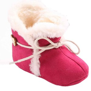 Wholesale Unisex Baby Newborn Cozie Faux Fleece Bootie Winter Warm Infant Toddler Crib Shoes Classic Floor Boys
