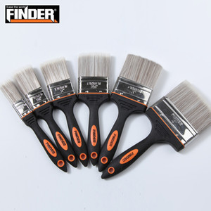 Finder Wholesale High Quality Black Two-color Rubber and Plastic Handle Painting Brush
