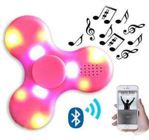 Bluetooth Music Spinner Wireless Speaker Fidget Spinner Decompression Toy Led Light EDC Plastic Fidget Toys Hand Spinner Sound Spinning Top