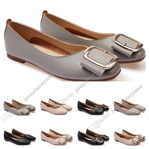 Wholesale girls' fall dress for sale - Group buy ladies flat shoe lager size womens girl leather Nude black grey New arrivel Working wedding Party Dress shoes Forty two