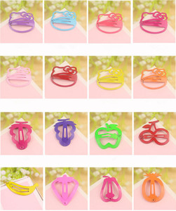 Wholesale hair jewelry New Fashion Multicolor Candy Color Painted Cute Alloy Fruit Children Hair Clips Barrettes Mix Order Random Delivery