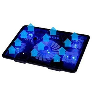 Wholesale Genuine Fan USB Laptop Cooler Cooling Pad Base LED Notebook Cooler Computer USB Fan Stand For Laptop PC