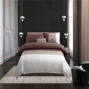 Wholesale Elegant Brown D Bedding Sets Printed Duvet Cover Set Set Queen King Twin Size