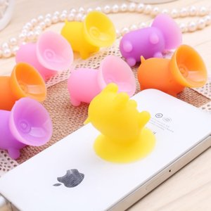 Wholesale Pure Silica Gel Multi Color Pig Sucker Stand Holder for Car Mobile for IphoneXS X s Plus Phone Accessory