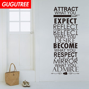 Wholesale Decorate Home proverbs character letter art wall sticker decoration Decals mural painting Removable Decor Wallpaper G-1528