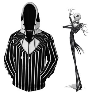 Jack Skellington Sally Halloween Cosplay Clothes The Nightmare Before Christmas Clothes Costume Clothing Men Women Zipper Tops