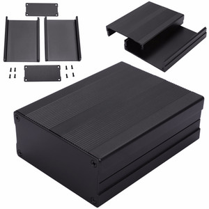 Black Extruded Aluminum Enclosures PCB Instrument Electronic Project Box Case 100x76x35mm