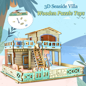 Wholesale Wooden D Puzzles Education Toys for Children DIY Lembongan Island Assembling Model Kits Creative Gifts Desktop Home Decoration