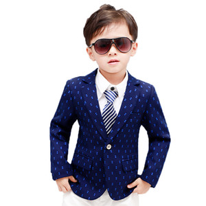 New Design Boys Dots Print Blazers Kids Fashion Spring Blazer Jacket for Boys Children Formal Wedding Birthday Party Jacket on Sale