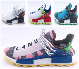 Wholesale Human Men RACE HU nmd Pharrell Williams Trail Mens Designer Sports neutral spikes Running Shoes for Men Sneakers Women Trainers shoe