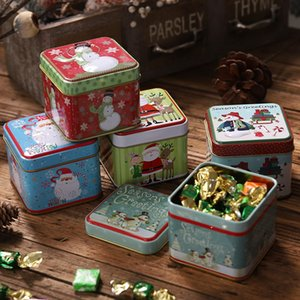Wholesale Christmas Mini Tin Box Sealed Jar Packing Xmas Candy Boxs Small Storage Cans Coin Earrings Jewelry Gift Case TTA1923