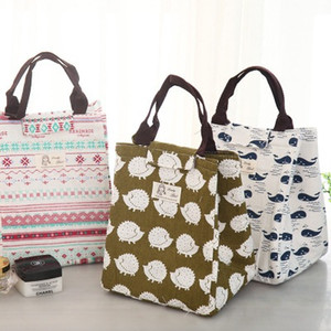 Wholesale New waterproof canvas portable lunch bag lunch box bag insulation package large lunch with rice bag