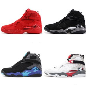 Wholesale New Jumpman 8 VIII 8s hight quality Sneakers basketball shoes Aqua Chrome COUNTDOWN PACK Three Playoff Peat man Retro sport basketball shoes