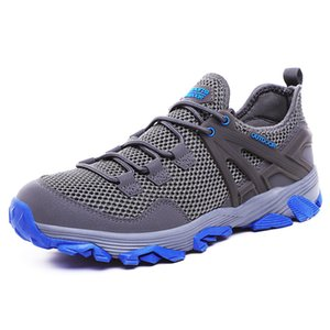Wholesale Hiking shoes large size summer light breathable outdoor hiking shoes MD solid out sole walking