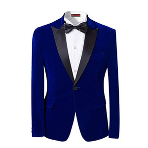 bilder klassischen anzug design großhandel-2018 On Sale Stück One Button Blue Mantel Hose Design Bilder Classic Fit Herren Hochzeitsanzüge Smoking Custom Mens Suits Jacke Hose