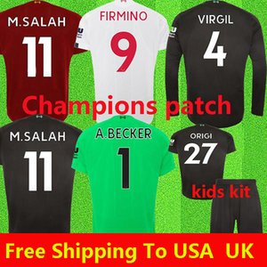 2019 2020 New Mohamed Salah Blackout soccer jersey 6 trophy 2019 MANE Tops VIRGIL football shirt camiseta FIRMINO Kits ALISSON Black maillot on Sale