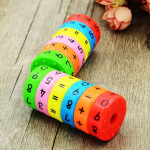 Wholesale 6 pieces magnetic Montessori preschool kids Educational Toys for children plastic math numbers DIY puzzle assembly boys girls