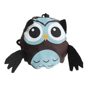 Wholesale Cute Animal Owl Shape Folding Shopping Bag Eco Friendly Ladies Gift Foldable Reusable Tote Bag Lady Portable Travel Shoulder