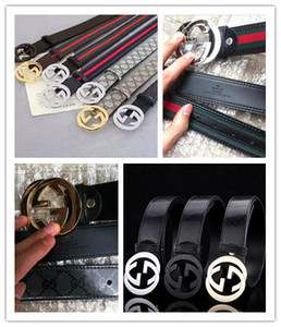 Hot selling new Mens womens black belt Genuine leather Business belts Pure color belt buckle belt for gift 02