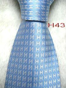 HH1 #100%Silk Jacquard Woven Handmade Men's Tie Necktie