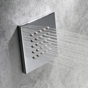 100mm In-wall Concealed Large Spray Jet Rainfall Shower Body Jets Massage Bathroom Spa Showerhead Chrome Showers Sprayer 4""