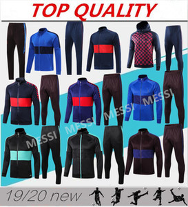 Wholesale top quality 2019 2020 MEssi soccer tracksuit jacket Chaqueta de fútbol 1920 Survetement SUAREZ PIQUE GRIEZMANN football tracksuit jacket