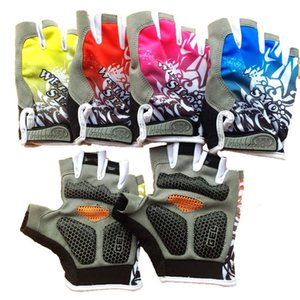 Wholesale HOT Men Women Cycling Bike Bicycle Ultra breathable Shockproof Half Finger Glove color Red black green yellow blue