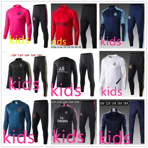 Wholesale 19 real madrid ajax psg kids soccer tracksuit paris mbappe hazard Survêtement de football training suit jogging chandal futbol