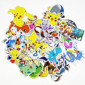 60Pcs Japanese Pocket Monster Figures Pikachu Stickers For Skateboard Laptop Lage Phone Home Decoration DIY Toy Sticker on Sale
