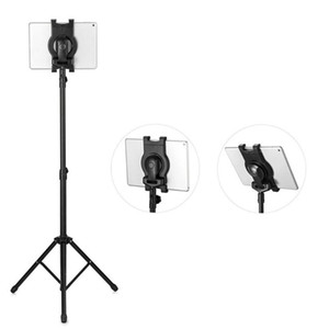 Factory price Universal Foldable Multi-direction Tablet Floor Stand Tablet Tripod Mount Holder Bracket for 7-10 inch Tablet PC For Ipad