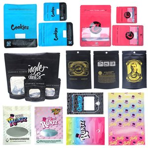 Runtz Chuckles Zipper Bags Cookies Connected Jungle boys Garrison Lane Alien Labs Package E Cig DHL Free