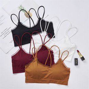 Top encaje lace Summer Seamless chest-wrapping underwear fashion running sports girl Comfortable Suspended vest underwear on Sale