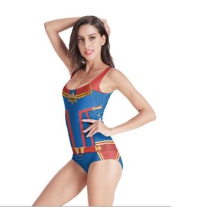 Wholesale Bikini Marvel The Avengers Surprise captain Cosplay Costume Bikini swim suit DROP SHIP