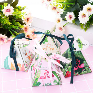 Wholesale Hot Sale High Quality Set Gift Bag With Ribbon Paper Box Wedding Birthday Party Candy Box Festival Supplies Gift
