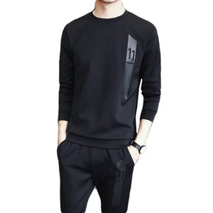 Men 2019 Spring Korean Sportswear Slim Thin Jogging Fitness Set Sport Clothing Training Suit Running Clothes Training Tracksuit