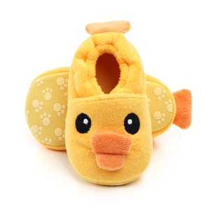 Infant Baby Boys Girls Anti Slip Sole Walking Home Slippers Soft Socks Cotton Shoes House Moccasins First Crib Shoes Newborn Gift