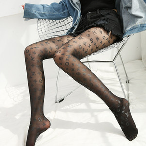Letter Print Tights Spring Autumn Winter Sexy Leggings Fishnet Stockings Leggings Women's Socks Black Color Hot Sell