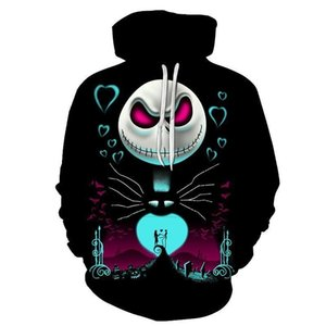 The Nightmare Before Christmas Jack Skull Cosplay Hoodie Men Women Fashion Hooded Pullover Sweatshirts Halloween Costumes Tops MX191113