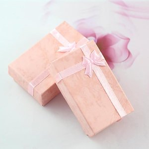 Wholesale Gift Box Bow Necklace Ring Earrings Bracelet Boxes Exquisite Gift Box Multi use Jewelry Holder Carton Bow Case