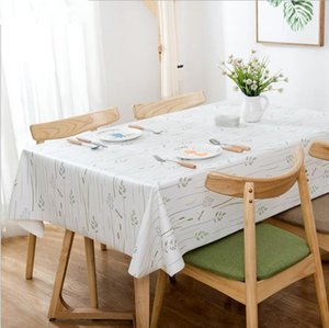 Wholesale Waterproof PVC Tablecloth New Waterproof Oilproof Thick Rectangular Wedding Dining Table Cover Floral Tea Table Cloth Home Decoration