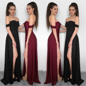 A Line Off Shoulder Evening Dresses Robe De Soiree 2020 Prom Dress Club Formal Party Gowns on Sale