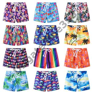 Wholesale Baby & Kids Board Shorts Kids Baby Boys Floral Stripes Print Shorts Casual Beach Pants Sport Bottoms Summer Beach Short 2-8T