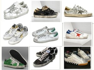 Wholesale Golden Goose Ggdb old style sneakers Dirty shoes Genuine Leather Villous Dermis Casual Shoes Mens Women Luxury Superstar trainer 36-46