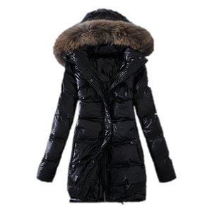women's Raccoon fur collar top quality winter long coat warm long coat women winter downs jacket Down Parka Coat outerwear coats