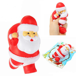 Wholesale sweet breads resale online - Hot Jumbo Kawaii Squishy Slow Rising Christmas Father Santa Claus Phone Strap Soft Sweet Bread Cake Scented Kids Toys