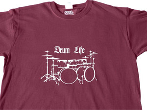 Wholesale COOL T SHIRT Drum Kit HANDMADE Drummer Music Instrument Band Clothes GiftsFunny Unisex Casual Tshirt top