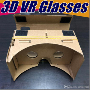 Wholesale vr box resale online - 100X DIY D Glasses Google cardboard VR BOX II Version VR Virtual Reality VR D Glasses For inch Smartphone NEW iphone X