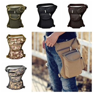 Wholesale Tactical Waist Bag Unisex Canvas Outdoor Camping Cycling Waistpack Sports Leg Bag Outdoor Bags Traveling Hip Bags Colors CCA11764