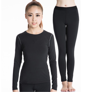 Wholesale 2019 New Autumn Winter Thermal Underwear Women Quick Dry Elastic Compression Female Warm Long Johns Casual Thermo Underwear Set