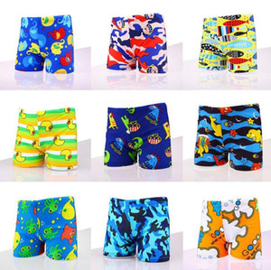 Boy Children Swim Trunk ages 3 to 12 Years Cartoon Diansours Swimsuit Beach Wear Swimwear Shorts Printed Toddler W Swimming Cap